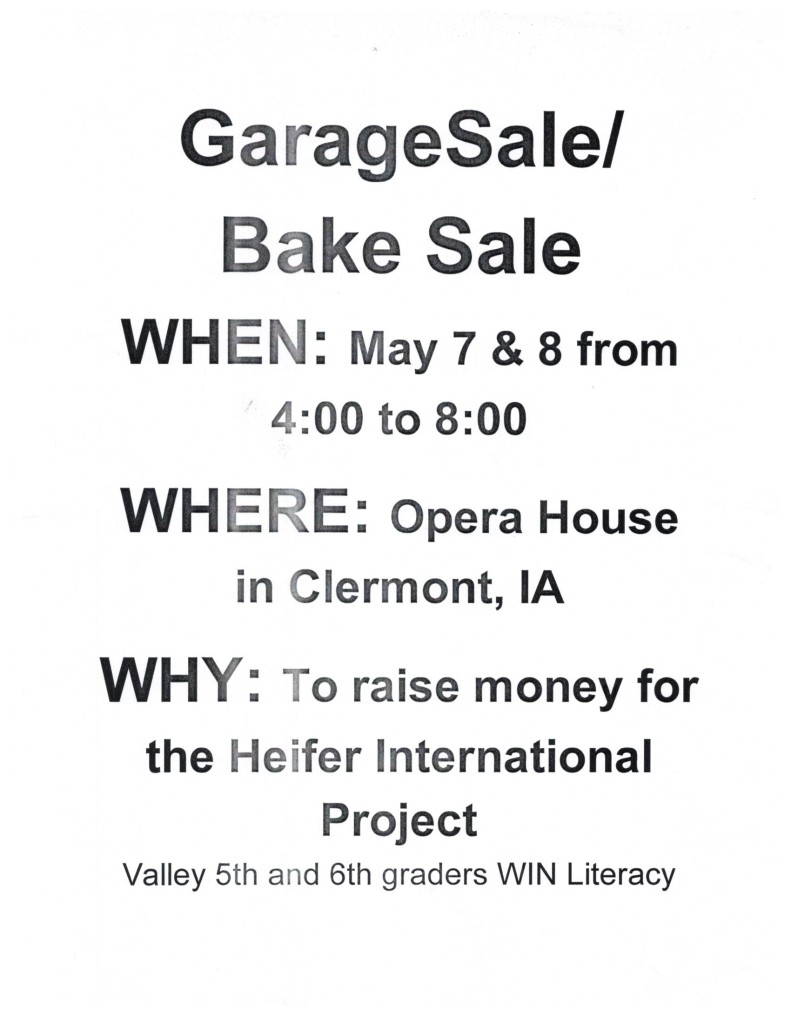Garage-Bake Sale